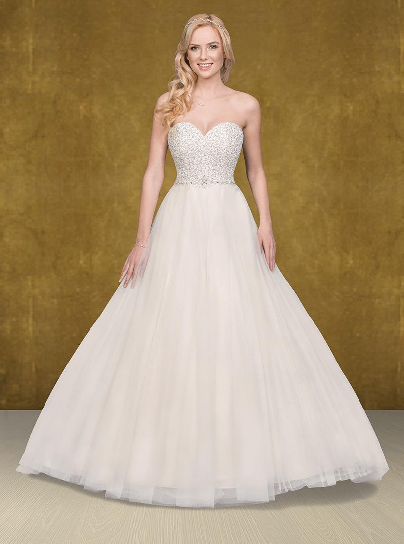 Corsagen Brautkleid Mit Perlen Bella Figura