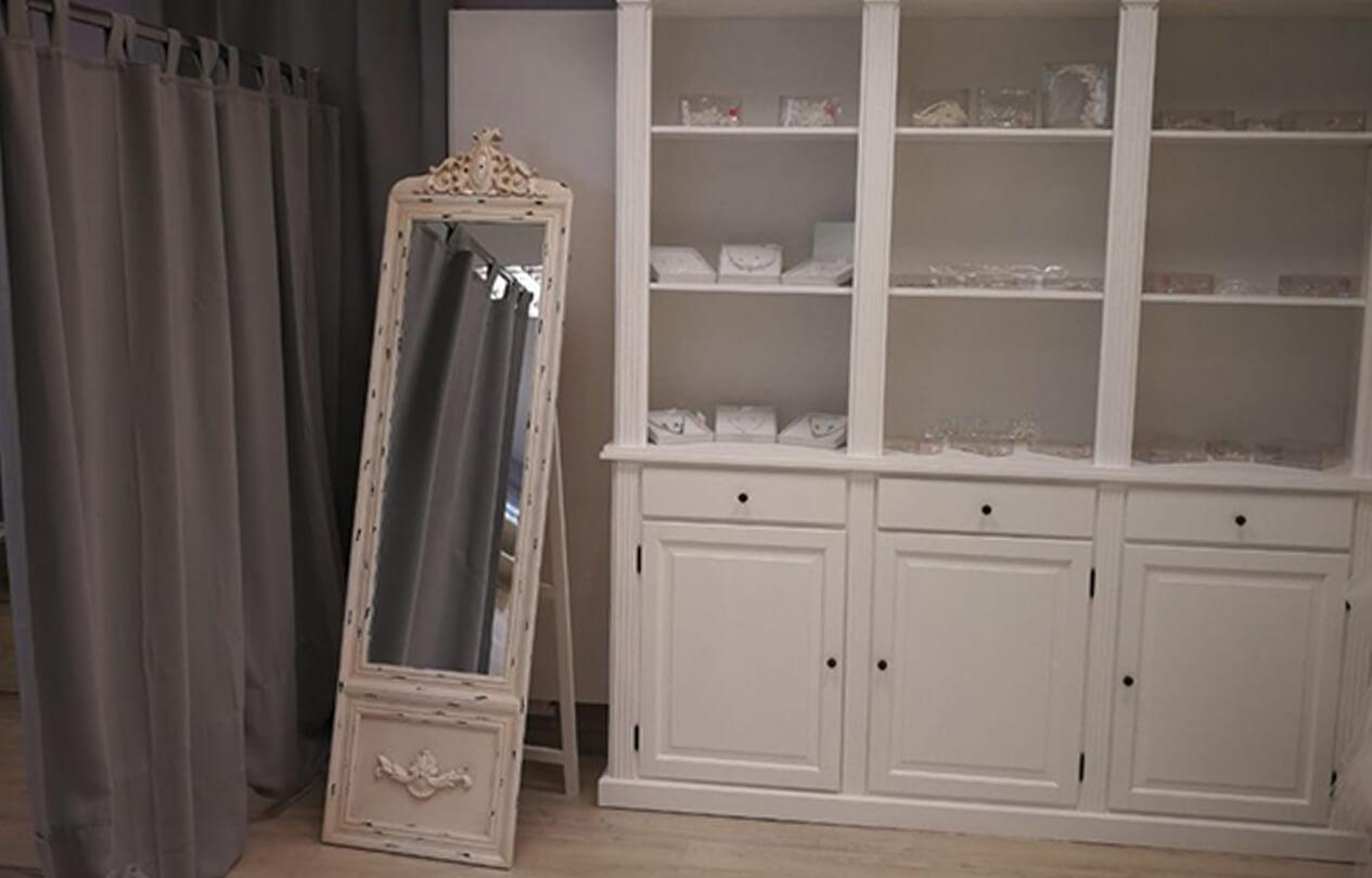 Umkleide mit Spiegel
