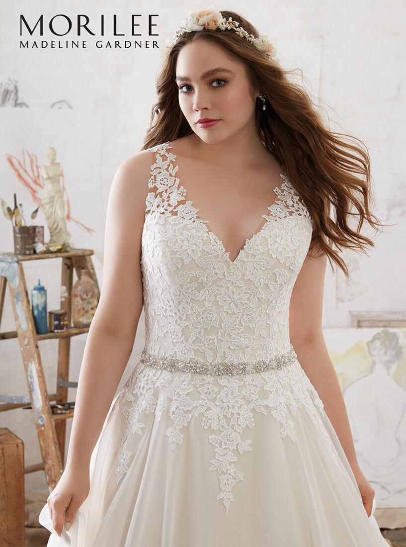 Elegantes Brautkleid aus Spitze