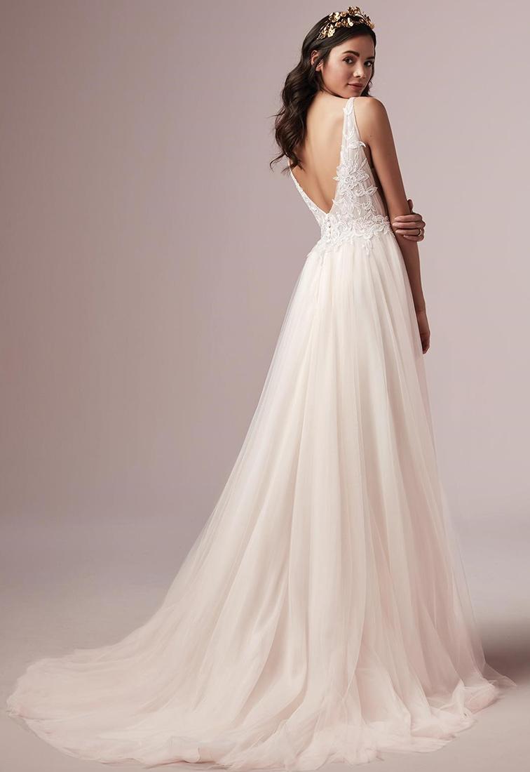 Brautkleid mit Tuellrock Rueckansicht