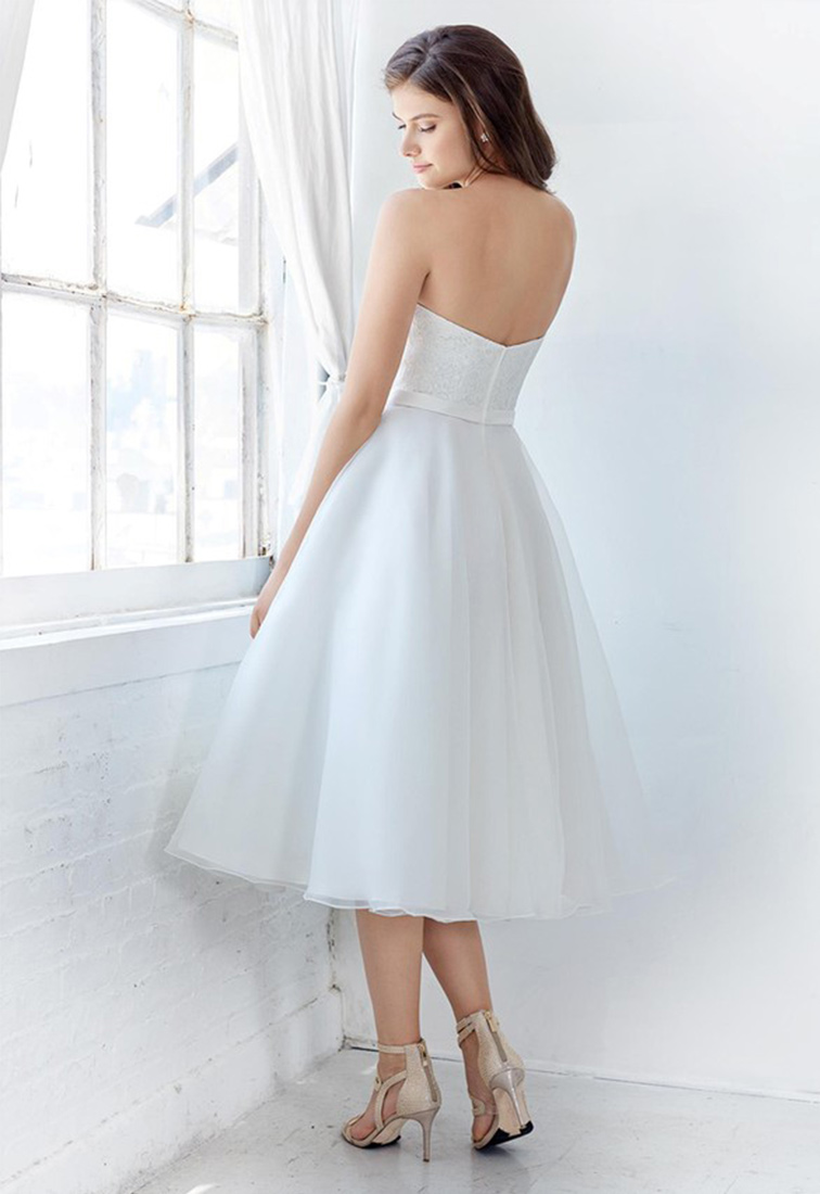 Petticoat Brautkleid Rueckansicht